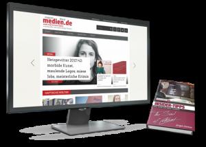 Bildschirm mit Website magazinmedien.de